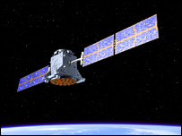 Artist's impression of SSTL's Galileo test satellite (Esa)