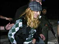Madonna at tomb of Kabbalah Rabbi Yehuda Ashlag