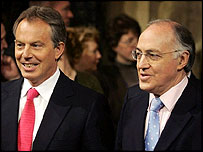 Tony Blair and Michael Howard