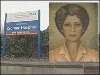 Cromer Hospital and a self-portrait of Sagle Bernstein