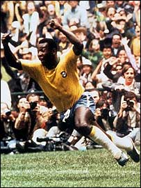 Pele, star of Brazil's 1970 World Cup-winning side