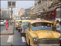 Cars on a Calcutta street