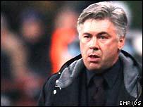 AC Milan coach Carlo Ancelotti