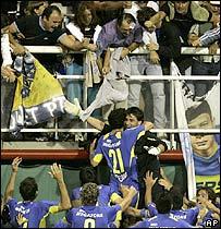 La Bombonera el 18 de diciembre de 2005.