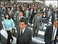 Commuters off to work in Tokyo