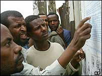 Ethiopians look at election results