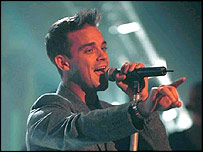 Robbie Williams performs on the BBC