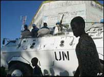 UN troops in Bunia - library picture
