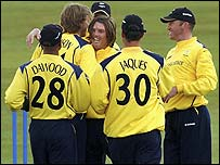 Yorkshire celebrate another wicket
