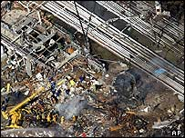 Aftermath of the explosion at the Texas City refinery in March 2005