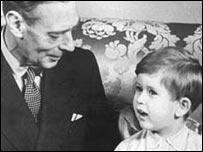 King George VI with Prince Charles