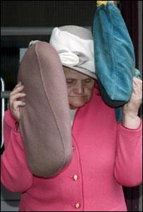 Dorothy Evans leaving court