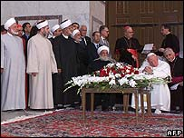 Pope John Paul II in Damascus