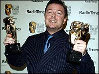 Ricky Gervais at Bafta Awards