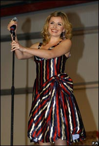 Katherine Jenkins performing in Basra for the troops