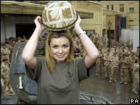 Katherine Jenkins with troops in Iraq