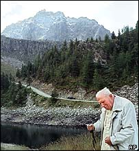 Pope John Paul II in Italian Alps