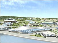 A view of Moscow's planned Olympic Park