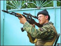 Российский снайпер в Беслане