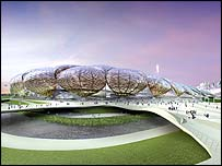 The Olympic Stadium will form the centre piece of the Olympic Park