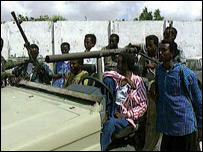 Somali fighters in 1993
