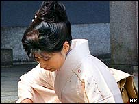 Japanese mother in ceremonial costume