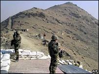 Nato peacekeepers patrol Kabul airport