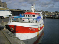 Fishing boat in Newlyn harbour