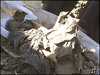 Soil and bones found at the site in Karbala