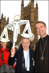 Abbot Christopher joins anti-poverty campaigners