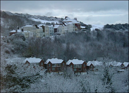 Hastings covered in a blanket of snow