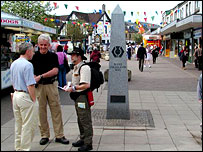 The start of the West Highland Way in Milngavie - image courtesy of Undiscovered Scotland