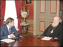 Константин Эггерт и Патриарх Московский и Всея Руси Алексий Второй
