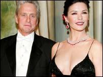 Catherine Zeta-Jones with husband Michael Douglas