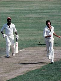 Viv Richards and Dennis Lillee