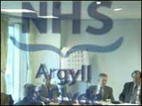 The NHS board was restructured in 2002