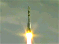 Launch of Soyuz (Esa TV)