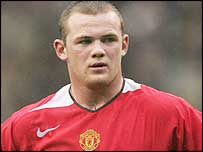 England and Man Utd striker Wayne Rooney