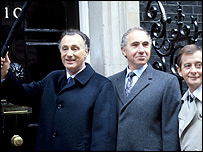 Paul Eddington, Nigel Hawthorne and Derek Fowlds