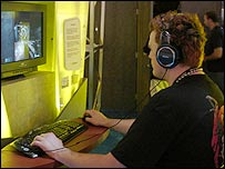 Gamer at the E3 expo