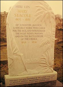 Mary Seacole's grave, St Mary's Catholic Cemetery, Kensal Green, London.  Copyright: Amanda German