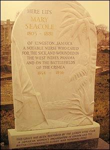 Mary Seacole's grave, St Mary's Catholic Cemetery, Kensal Green, London.  Copyright: Amanda German