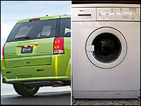 Four-wheel-drive and a washing machine