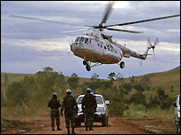 UN troops and helicopter in eastern DR Congo (Copyright: Monuc)