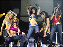 Girls Aloud play at the Brighton Pavillion