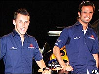Red Bull drivers Christian Klien (left) and Vitantonio Liuzzi