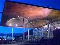The new Welsh assembly building