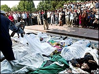 Bodies in Andijan. File photo