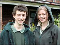 Coombeshead College pupils in their 'hoodies'