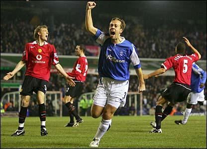 Jamie Clapham celebrates his goal